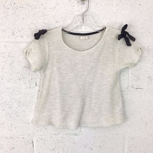 Zara Girls Soft Collection Knitted Top with Bows